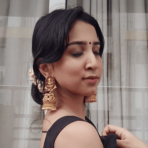 jhumka earrings gold