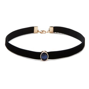 Blue Stone Fashion Choker Neckset
