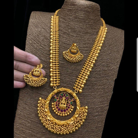 24 Inches Nagas Style Long Haram Neck set