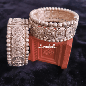 temple silver style bangles
