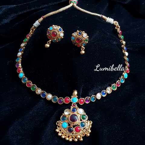 navrathna necklace
