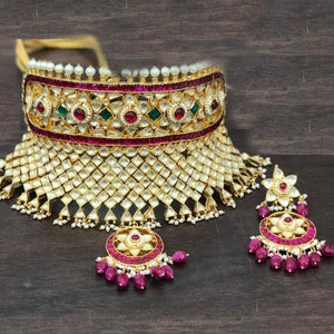 Heavy Work Kundan Embellished Choker