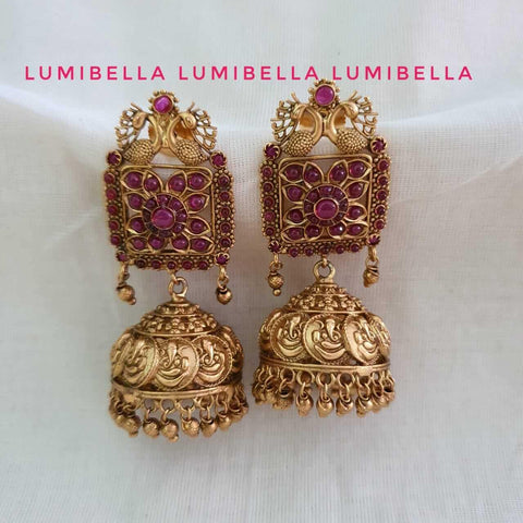 ganesh jhumka earrings