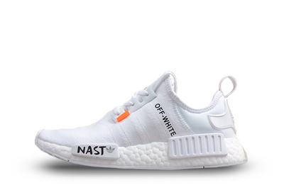 Off-White® x Adidas NMD's 'White/Orange' - Kickked