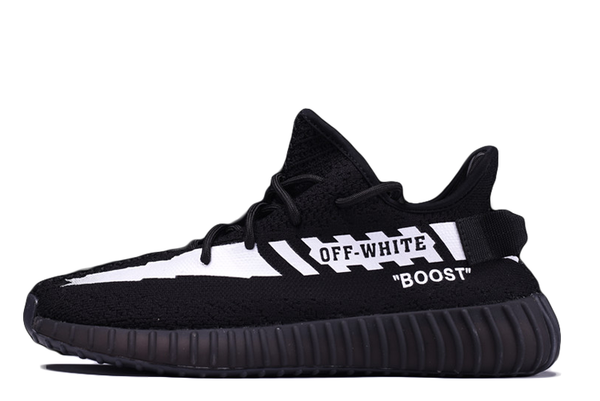 OFF-WHITE X ADIDAS YEEZY BOOST 350 V2 'BLACK' - Kickked