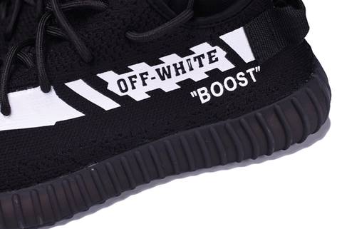 Off-White® x Adidas Yeezy Boost 350 V2 'Black' - Kickked