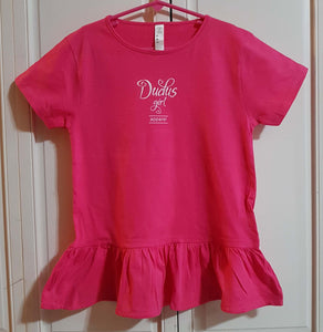 Girls PINK Ruffle Tees w/ white logo