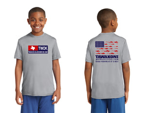THE TWOK FISHING Youth Short Sleeve Performance Shirt.