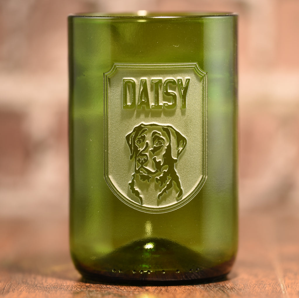 New Pet Lover Gifts, Dog Breed and Name on Glass