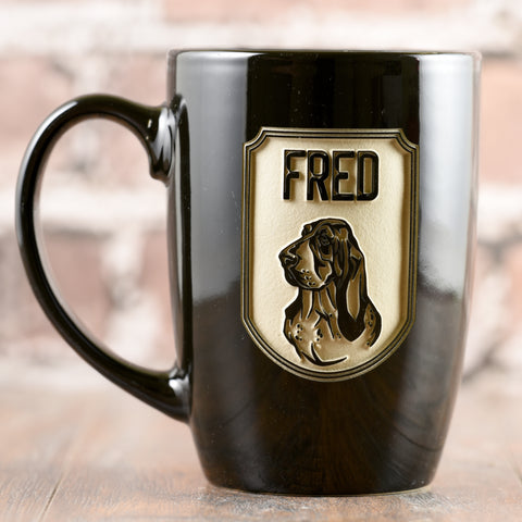Dog lover coffee mug, breed and name personalized gifts.