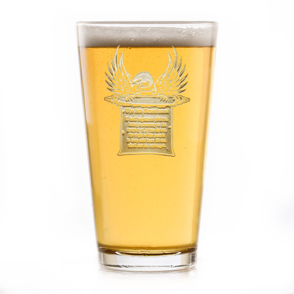 2nd Amendment Gun Rights Pint Pub Beer Glass