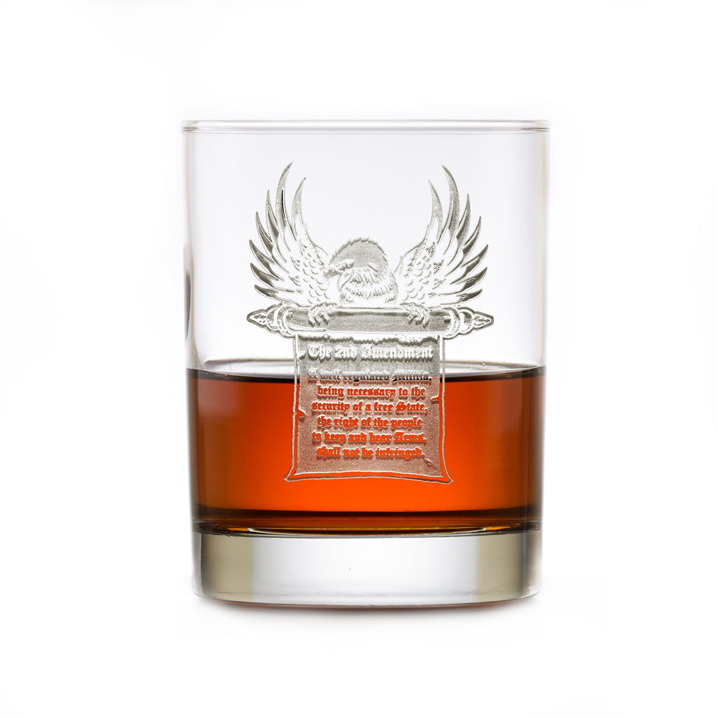 2nd Amendment Gun Rights Freedom Whiskey Glass Gift