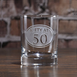 Engraved 40th Birthday Whiskey Glass