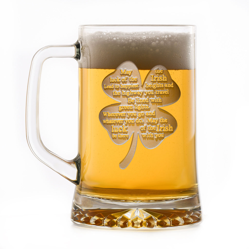 Luck of the Irish St. Patrick's Day Beer Mug