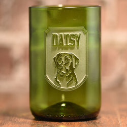 Dog Lover Gift, Personalized Dog Breed Green Cocktail Glass
