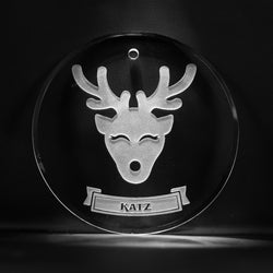 Engraved Personalized Reindeer Christmas Ornament FREE SHIPPING!