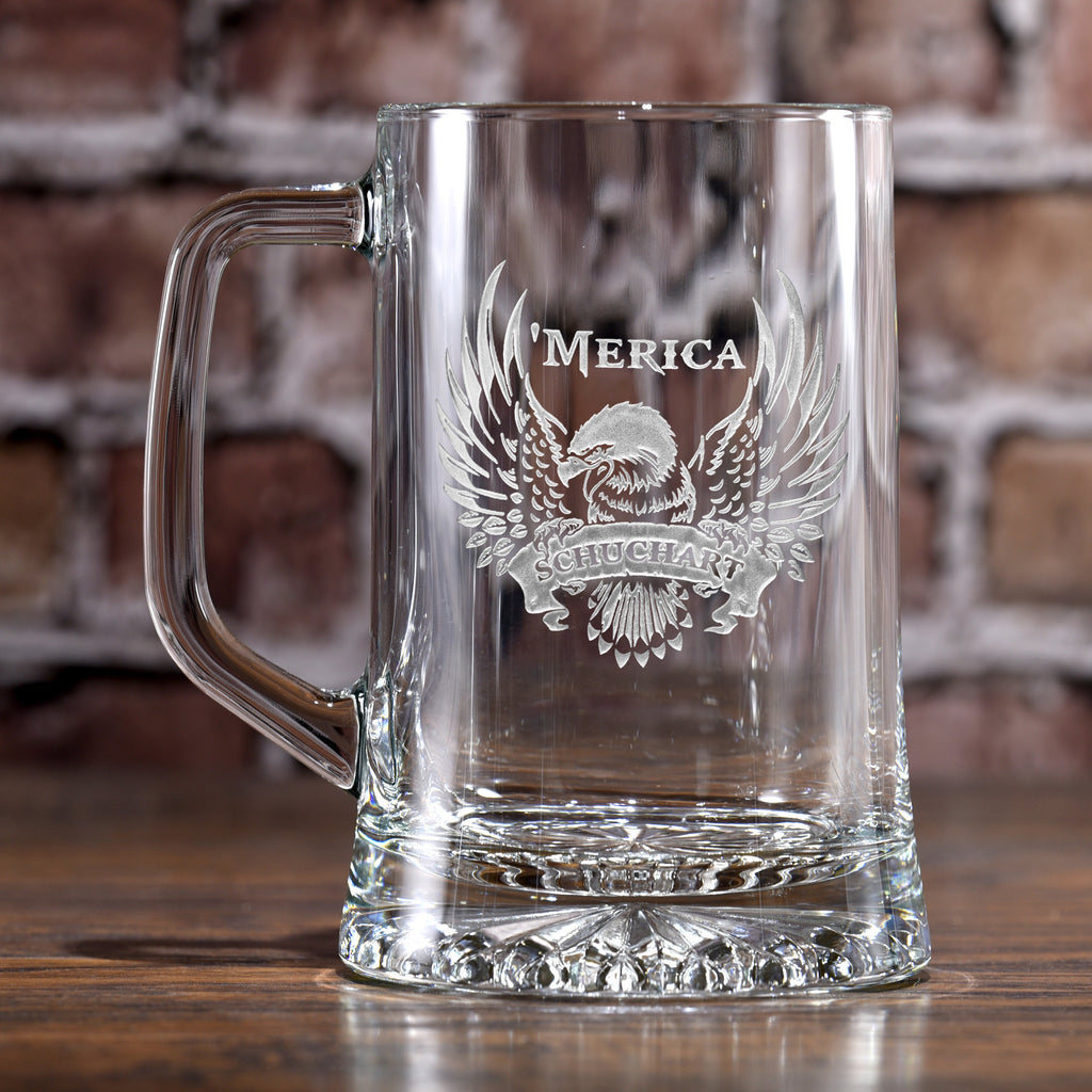 Patriotic USA 'Merica Bald Eagle Beer Mug