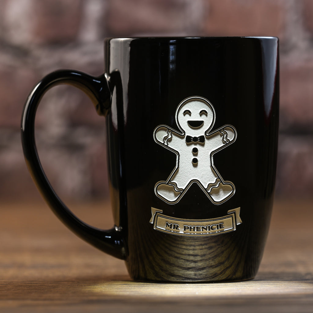 Personalized Gingerbread Man or Woman Christmas Coffee Mug