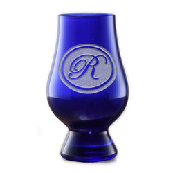 Personalized Blue Glencairn Whisky Glass