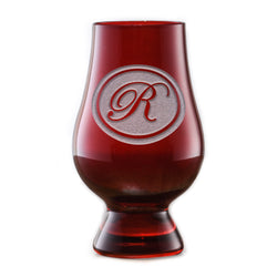 Personalized Red Glencairn Whisky Glass