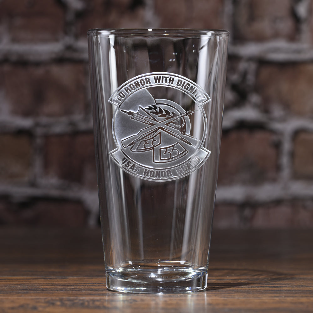 Honor Guard Pub Glass