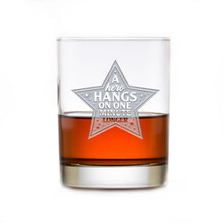 Hero Thank You Gift for Doctors Nurses Whiskey Rocks Glass