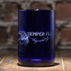 Cobalt Blue Recycled Wine Bottle Glass With Your Logo