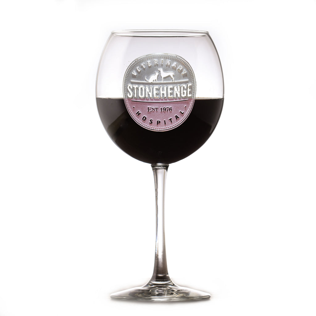 Custom Logo Red Wine Glass Stemware (Set of 2)