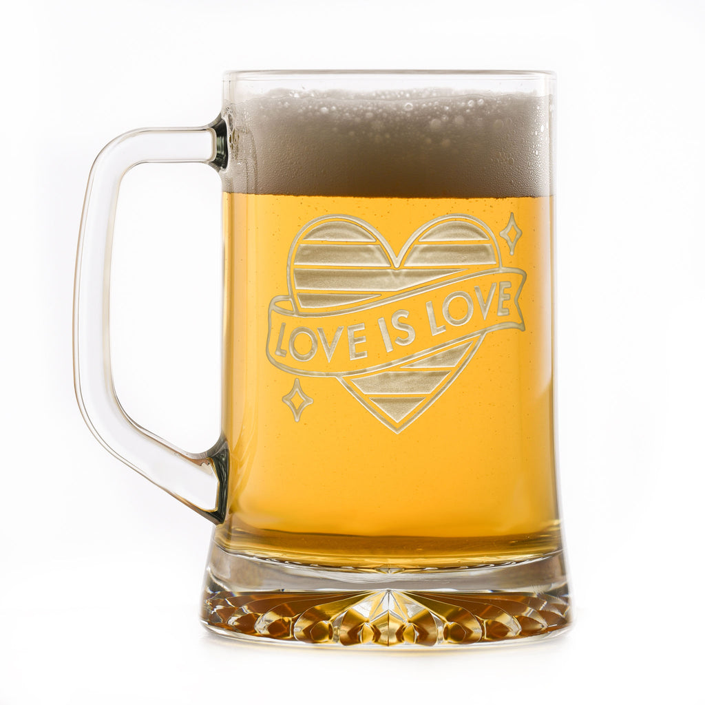 LGBTQ Pride Gifts, Engraved Beer Mug