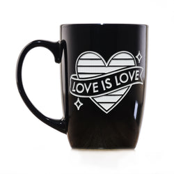 LGBTQ Pride Gifts, Large Engraved Coffee Mug