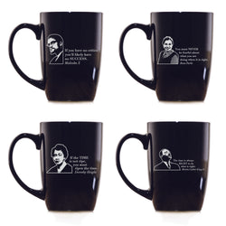 Black Leader Quotes Coffee Mug Set, Love Knows No Color
