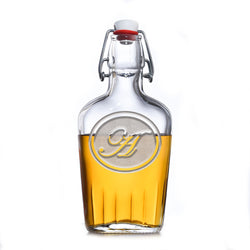 Engraved Bourbon Whiskey Flask With Monogram