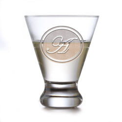 Engraved Martini Glass With Monogram
