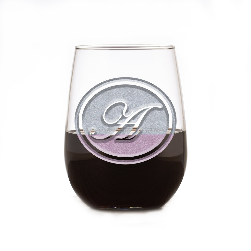 Stemless Wine Glass With Monogram