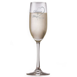 Custom Bride Groom Wedding Date Toasting Flutes