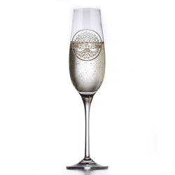 Family Tree Custom Engraved Crystal Champagne Glass