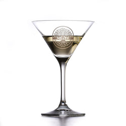 Engraved Crystal Martini Cosmopolitan Glass