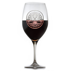 Family Tree Engraved Crystal Red Wine Glass Gift