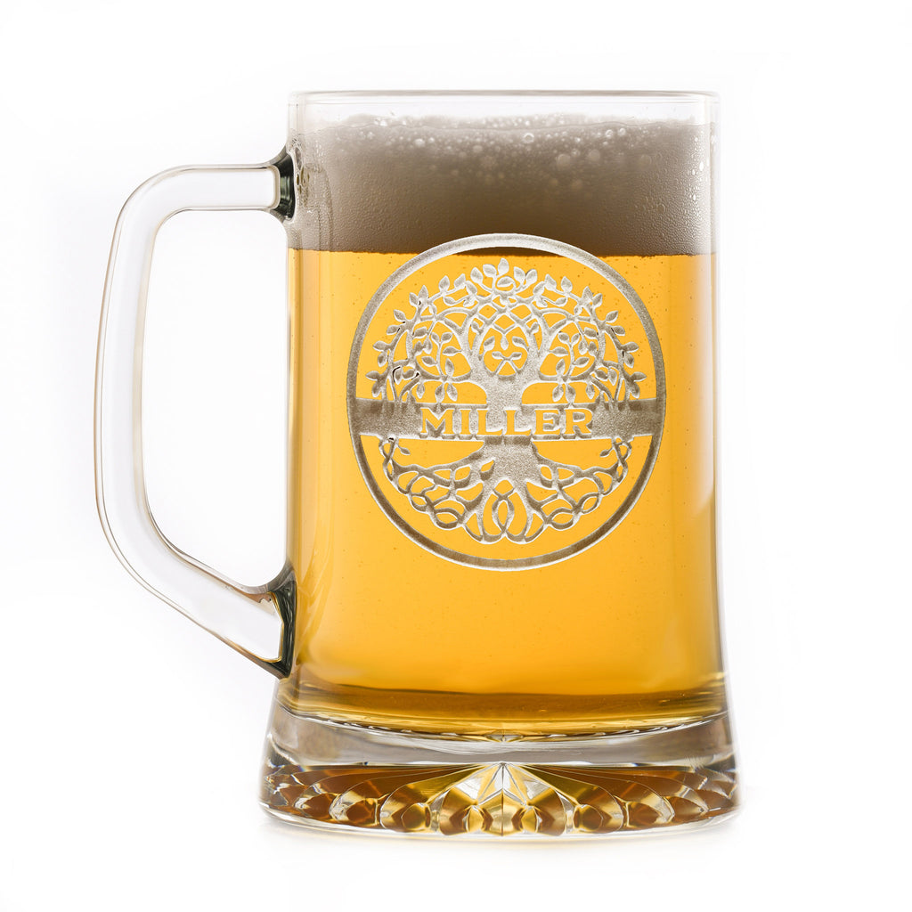Family Tree Engraved Beer Mug Gift