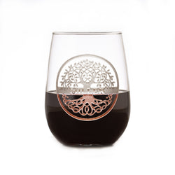 Family Tree Engraved Stemless Wine Glass
