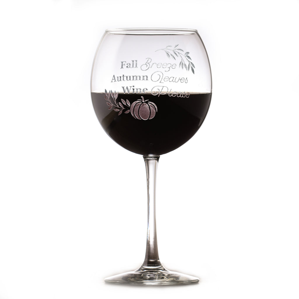 Pumpkin Spice Lover Gift, Red Wine Glass