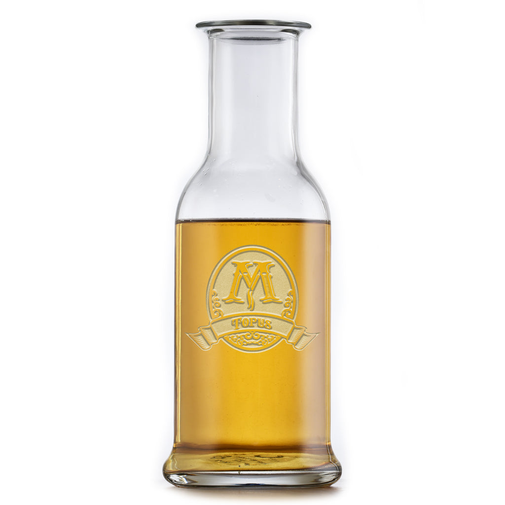 Etched Stolzle Purity Wine Carafe