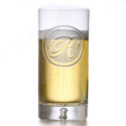 Crystal Highball Cocktail Glass With Monogram