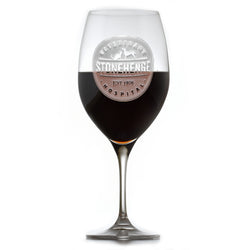 Your Logo Engraved Crystal Red Wine Glasses