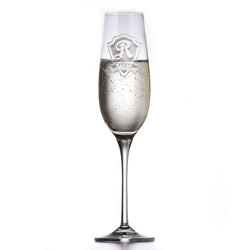 Custom Engraved Crystal Champagne Glass