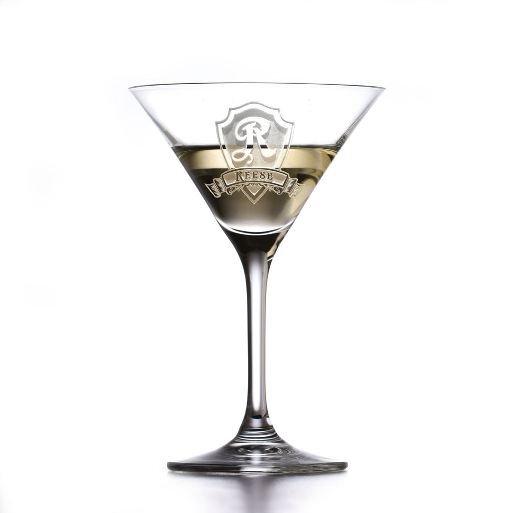 Personalized Crystal Martini Cosmo Glass