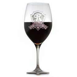Engraved Crystal Red Wine Glass, Personalized