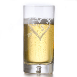 Etched Crystal Highball Glass for Wedding Gift