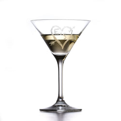 Custom Crystal Martini Cosmo Glass for Valentine