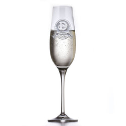 Personalized Crystal Champagne Glass